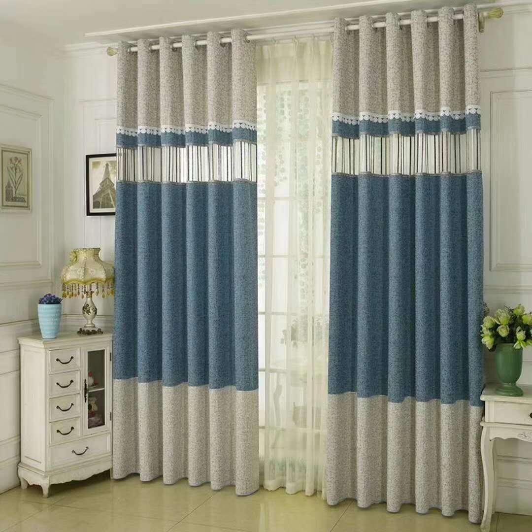 High-grade imitation chenille stitching blackout curtains
