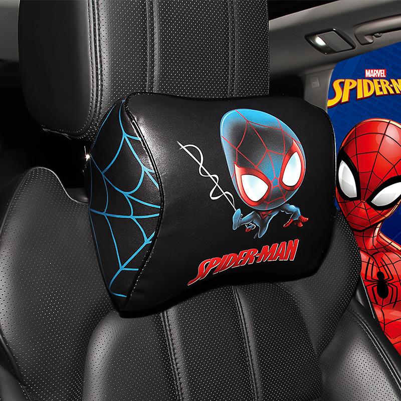 MEICHEZAI Gối đầu xe hơi Marvel xe đầu gối gối cổ xe ghế cổ gối xe nhớ bọt gối xe dễ thương cung cấp