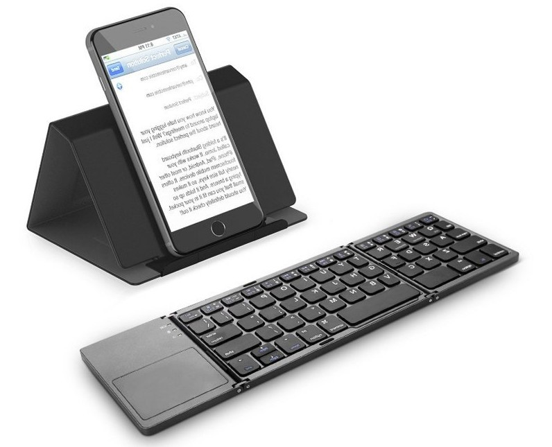 Smart portable three-folding bluetooth keyboard upgrade