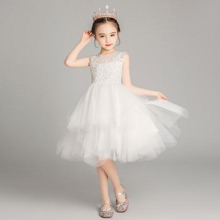 Trang phục dạ hôi trẻ em  Váy trẻ em, váy công chúa, sợi lông của bé gái, sàn catwalk, quần áo biểu
