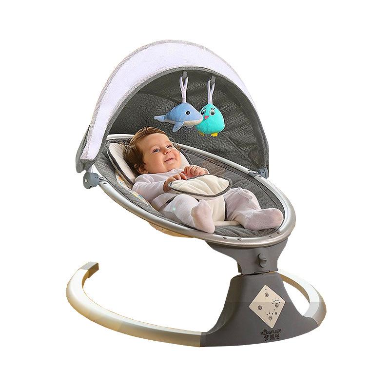 Nôi trẻ sơ sinh Ghế xích đu trẻ em điện nôi giường ngủ dỗ bé tạo tác xe tay giỏ giường giường gấp nh