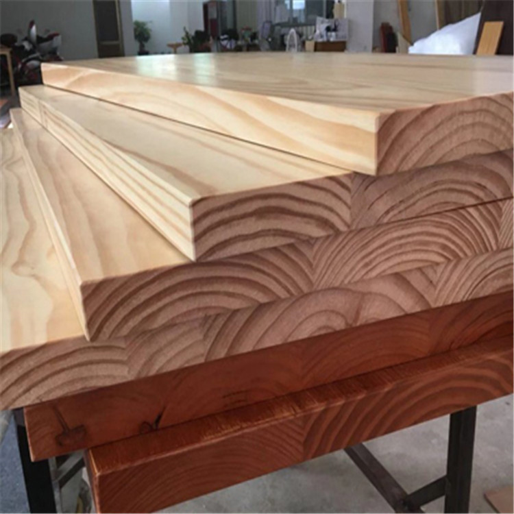 Natural edge whole panel splicing board desktop board log pine wholesale