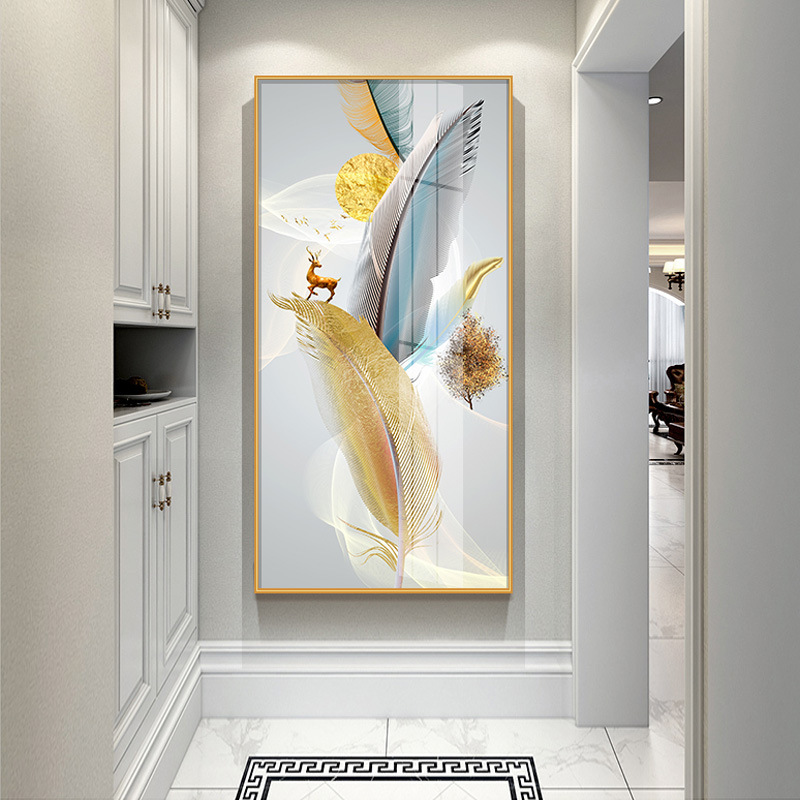 Crystal porcelain crystal diamond painting modern minimalist porch decorative painting abstract livi