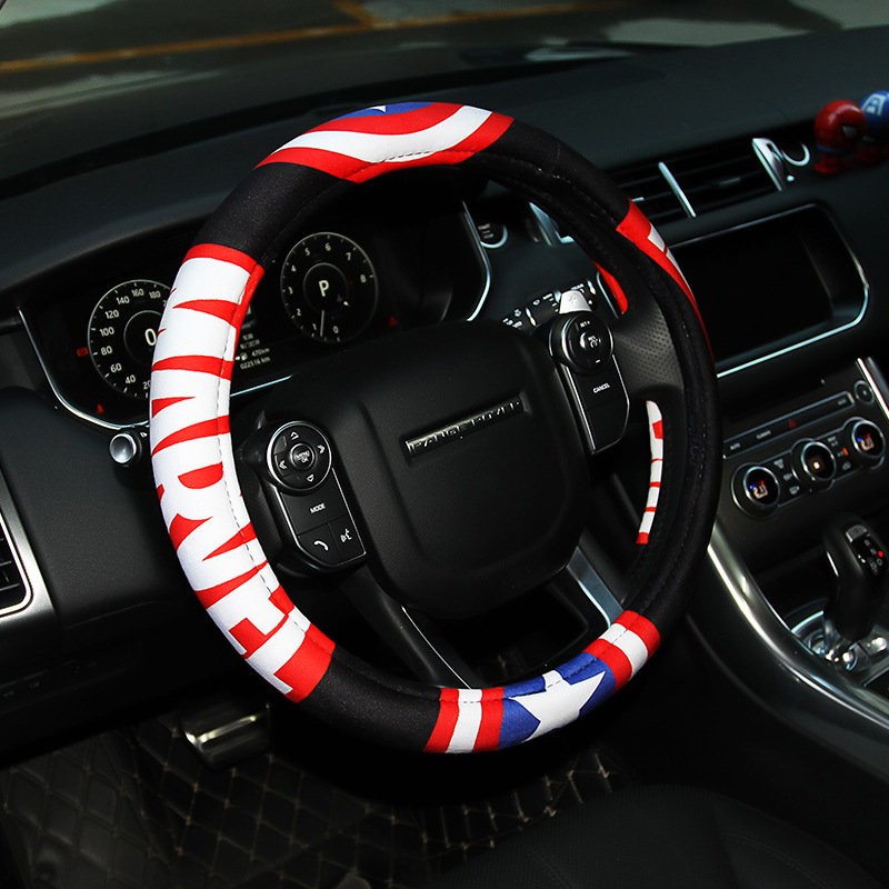MEICHEZAI Da bọc vô lăng Marvel 2018 new car steering wheel cover thickened universal handlebar cove