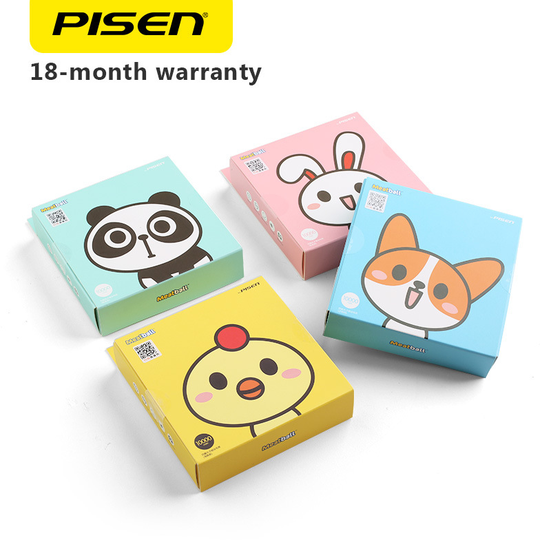 PISEN Sixi Maruko 10000mAh Super Cute Mini Portable Power Bank Universal for Apple Mobile