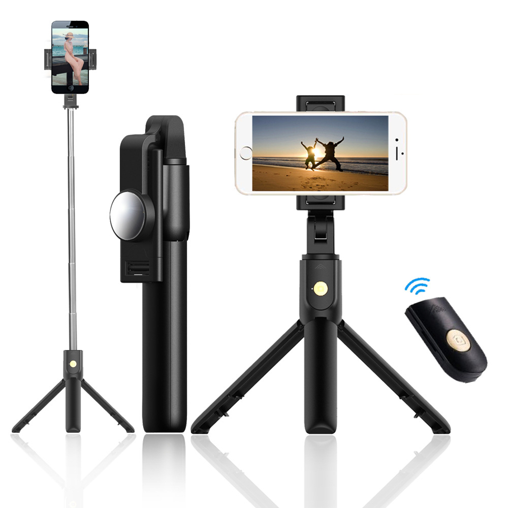 SelfieCom Bluetooth selfie stick mobile phone stand horizontal and vertical shooting live tripod sel