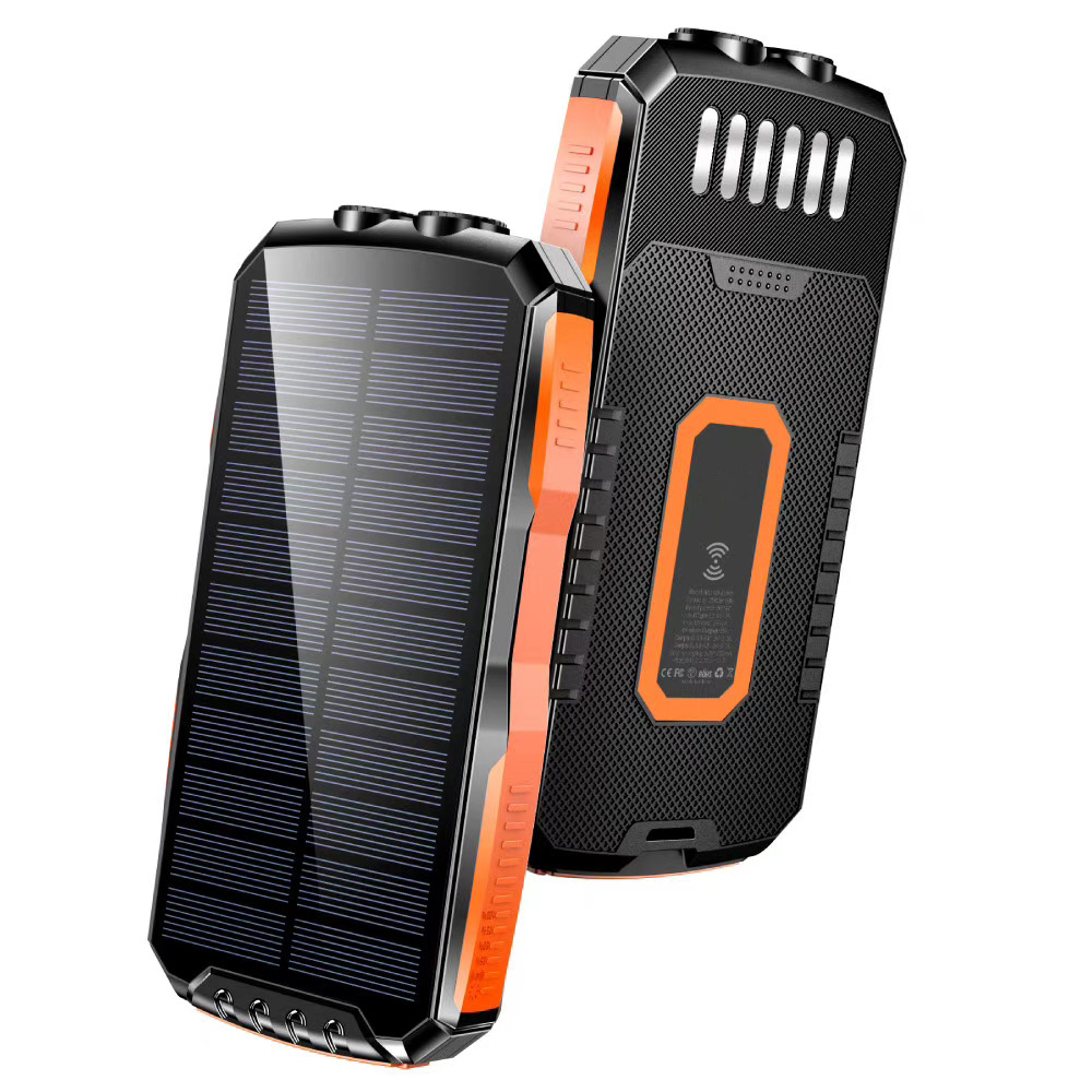 Solar wireless charging mobile power 6W high-power flashlight mobile phone universal wireless power