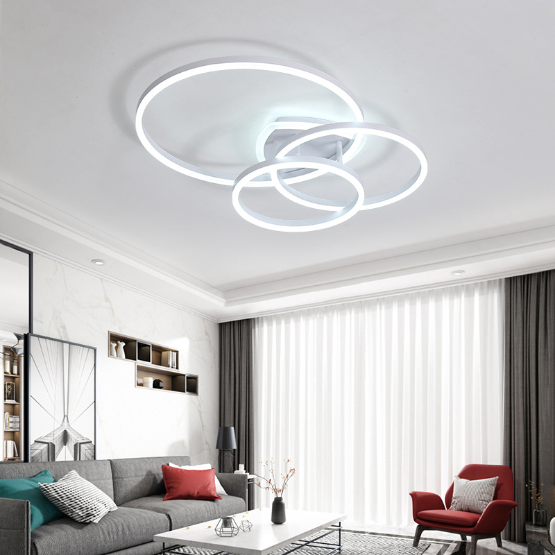 Modern simple round living room lamp creative personality bedroom dining room study warm home led ce