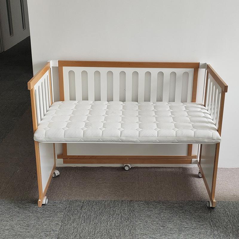 ONE STAR Nôi trẻ sơ sinh Phong cách châu Âu bé tứ giác đầu giường đa chức năng gấp gỗ rắn cũi trẻ sơ