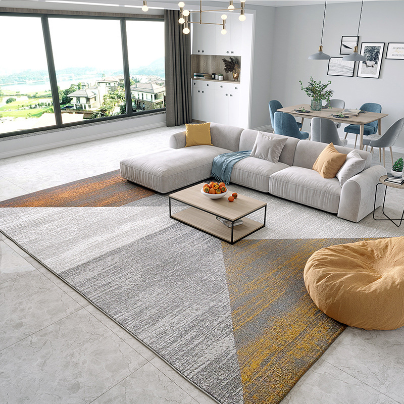 QIANLONG Living room sofa coffee table polypropylene carpet Nordic ins modern geometry light luxury