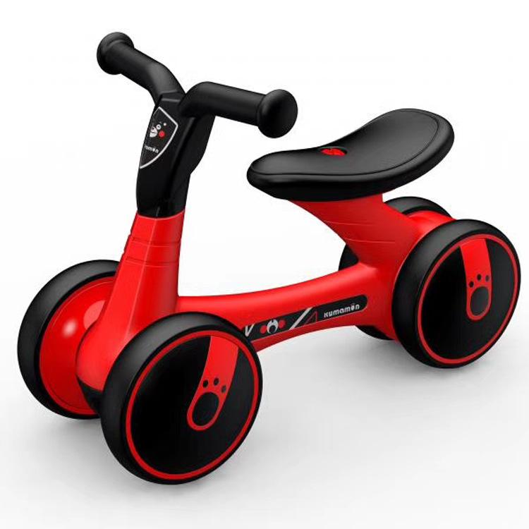 LUDDY Xe tập đi Xe đạp cân bằng của trẻ em Le walker bé tập đi 1-3 tuổi không có bàn đạp yo xe bốn b