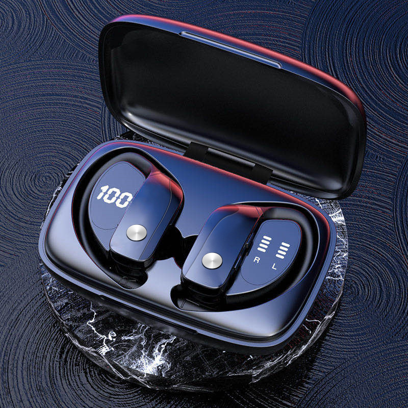 New private model Bluetooth headset wireless TWS bilateral stereo ear hanging 5.0 sports car Bluetoo