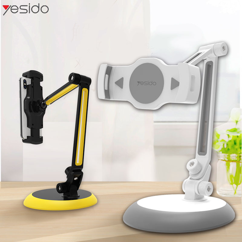 Yesido ipad desktop multi-function live mobile phone holder lazy universal mobile phone tablet holde