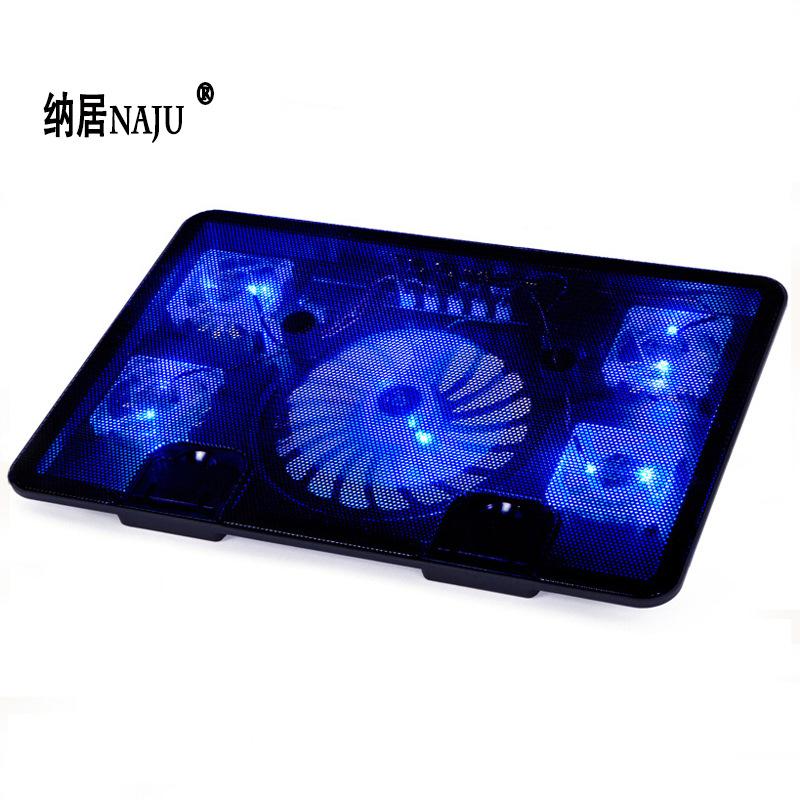Naju N5 notebook cooler 14 inch 15.6-inch laptop cooling bracket exhaust fan base mat black