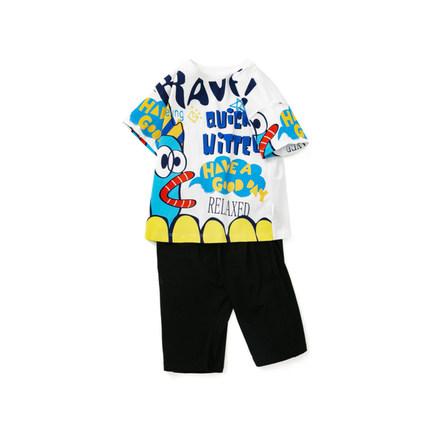 Barabara Quần trẻ em  trẻ em phù hợp với tay ngắn quần bé trai top 2020 quần áo mùa hè mới quần áo t