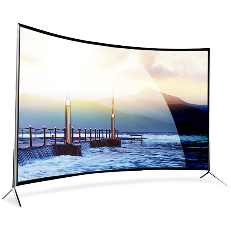 TV 75 inch 4K ultra-clear curved screen TV factory direct sales 75 intelligent network HD curved scr