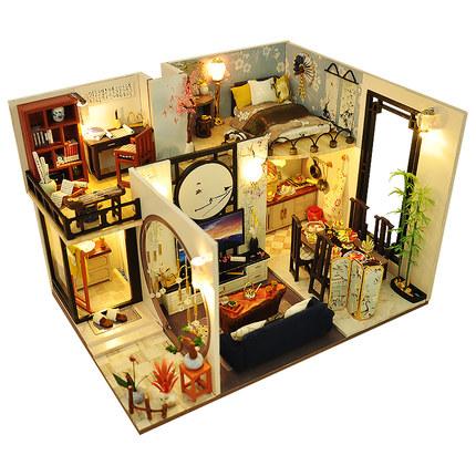 Tranh xếp hình 3D Craftsman ba chiều 3d gỗ tự làm mô hình câu đố nhỏ làm bằng tay câu đố mô hình giả