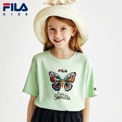 Fila  Áo thun trẻ em  Quần áo trẻ em của Fila Fila áo thun nữ tay ngắn cho bé trai mùa hè 2020 mùa h