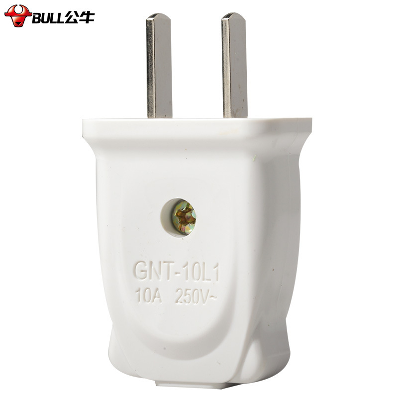Bull 10A plug wire two heads two feet wiring two holes two power supply two feet two poles GNT-10L1