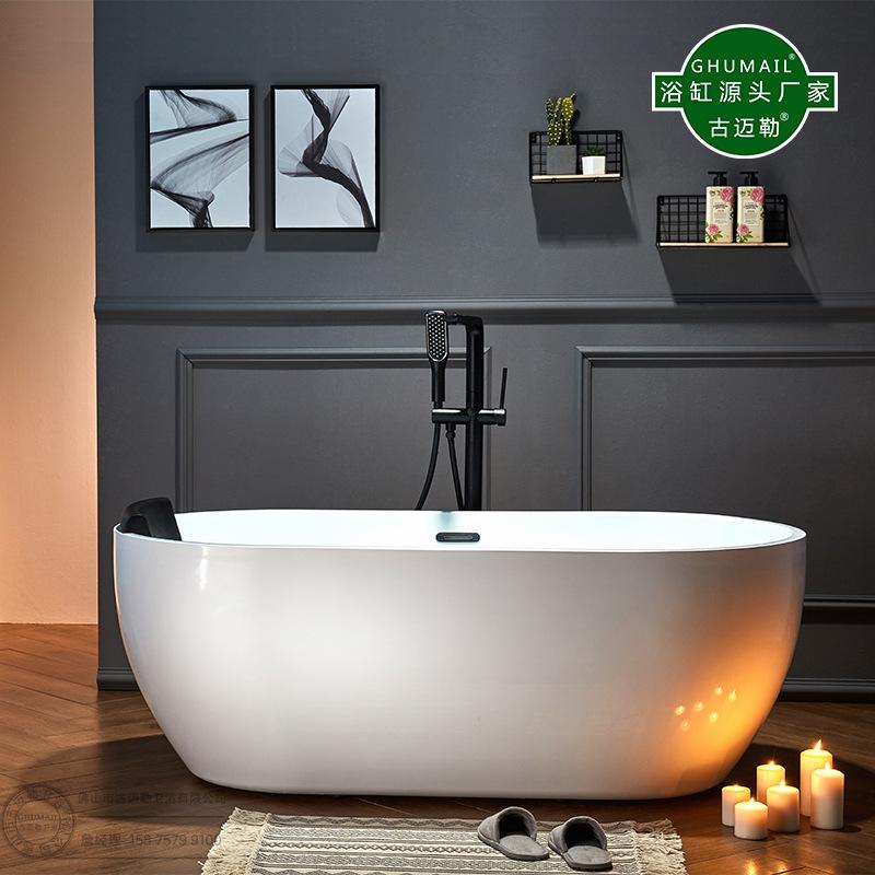 Bồn tắm có chân đế acrylic 1,2 1,3 1,4 1,5 1,6 1,6 1,7 m