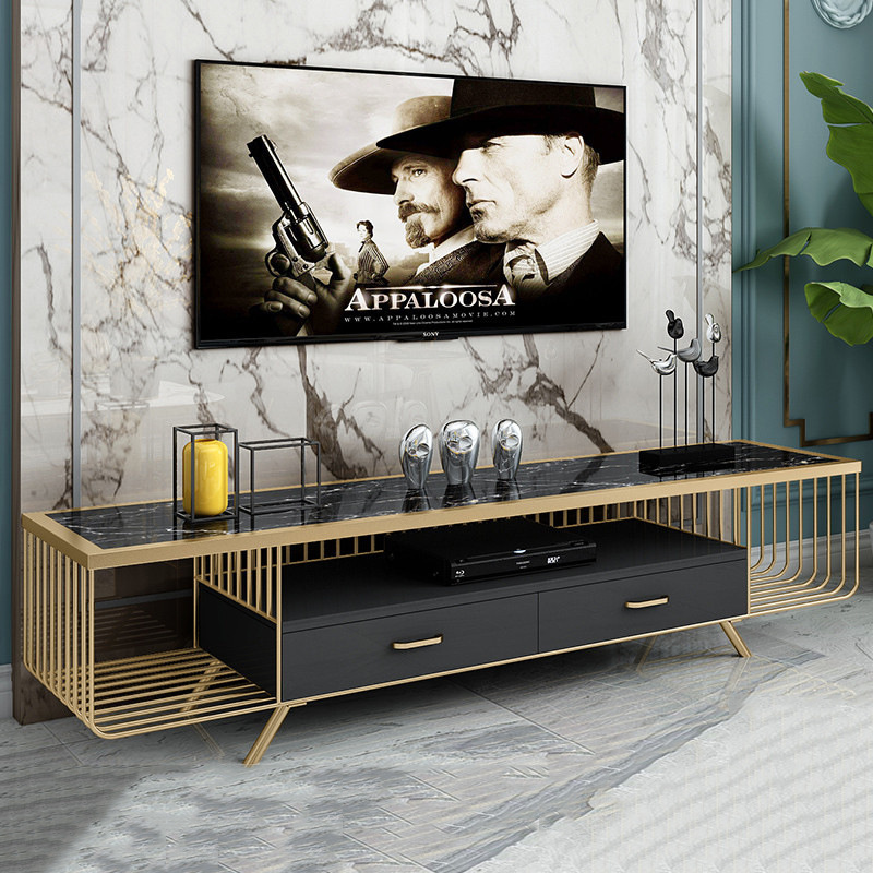 SHANGXIN Light luxury marble TV cabinet furniture home audio-visual cabinet hotel apartment living r