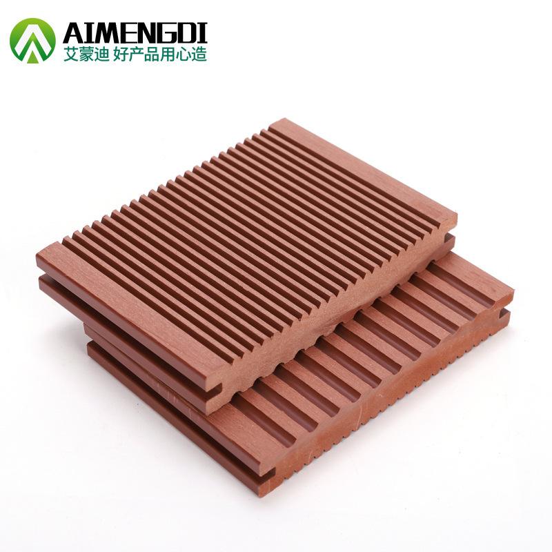 Wood plastic factory direct sales solid plastic wood floor anti-skid groove surface outdoor floor ga