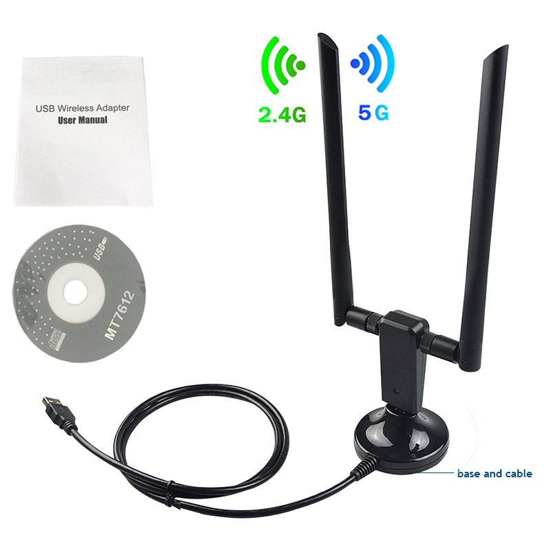 Driver-free 1200M wireless network card 2.4G/5.8G USB3.0 dual-band wireless network card wifi receiv