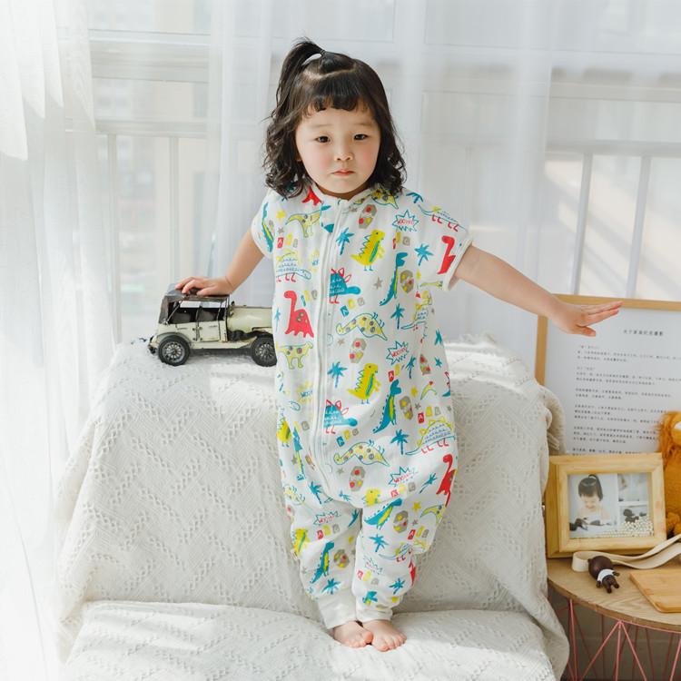 Hxy Kids Crown Túi ngủ trẻ em Túi ngủ không tay cho bé Bộ đồ đôi chống gạc tách đôi Túi ngủ cho trẻ