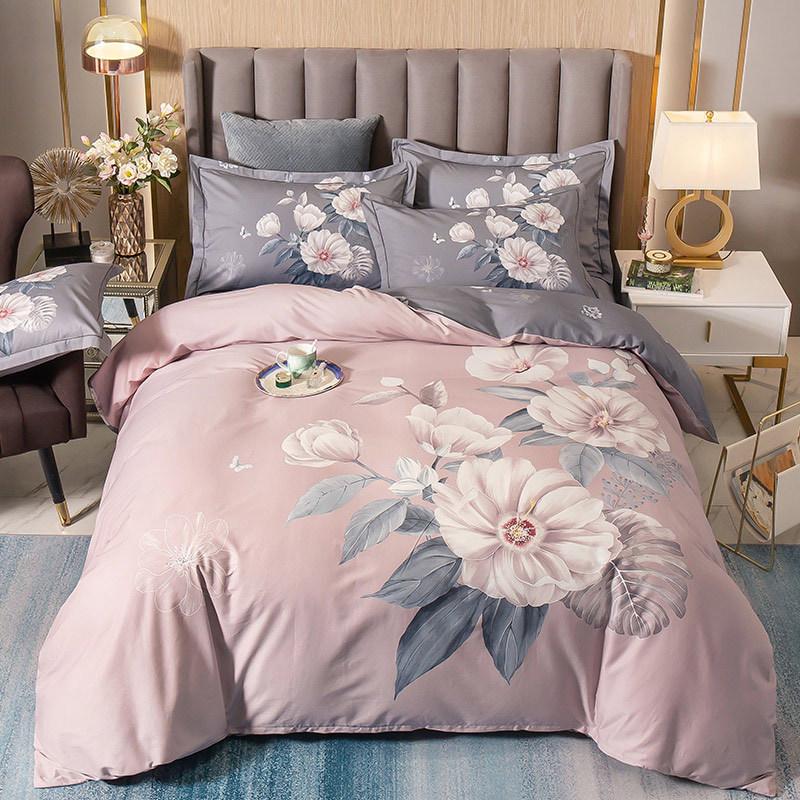 YUEHONGYAN Bộ drap giường Bộ bông bốn mảnh 13372 hoạt động phiên bản lớn hoa ngựa ngựa bông bộ bốn m