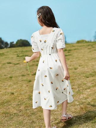 Trang phục trẻ em mùa hè  Váy bé gái mùa hè 2020 kiểu váy trẻ em lớn kiểu nước ngoài mới cho bé gái