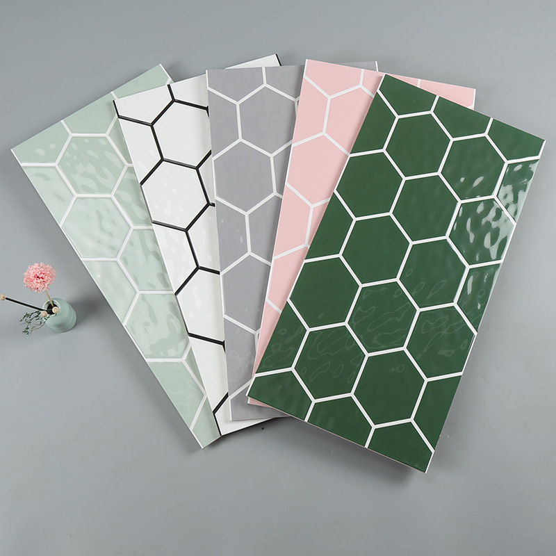 HANGDAO Nordic minimalist honeycomb concave and convex wall tiles toilet bathroom kitchen tiles 300x