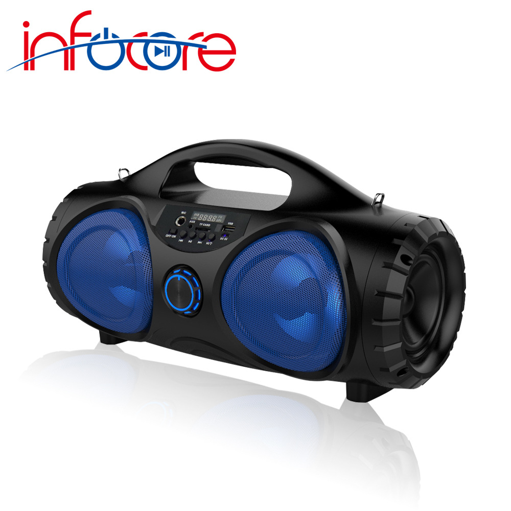 infocore Infork 2019 new portable portable strap bluetooth speaker high-power square dance subwoofer