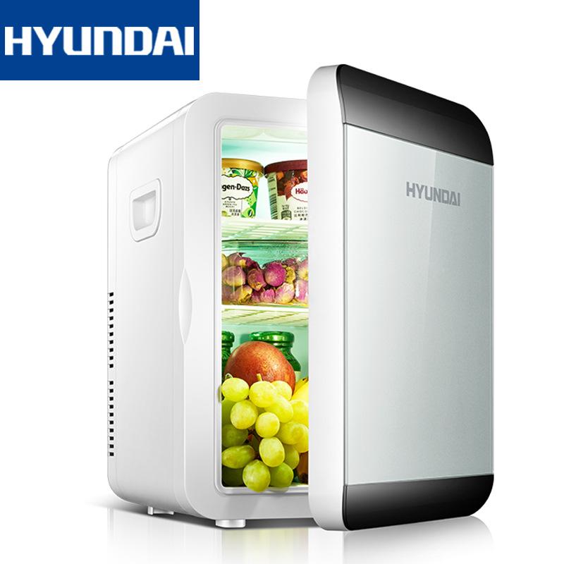 HYUNDAI tủ lạnh xe hơi hiện đại 13,5L tủ lạnh tủ lạnh mini hộ gia đình nhỏ một cửa ký túc xá sinh vi