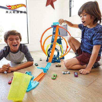 Xe một bánh tự cân bằng Hot Wheels Three Rings Challenge Rail Kết hợp xe Đặt Maneuver Track Boy Chal