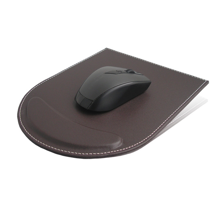 KINGFOM solid color leather mouse pad computer desktop PU wrist pad personalized wrist mouse pad cus