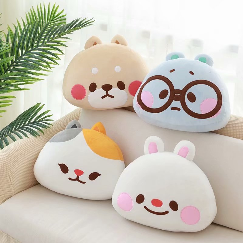 Cartoon Korean cushion pillow cute head pillow sofa cushion plush toy 0.5KG