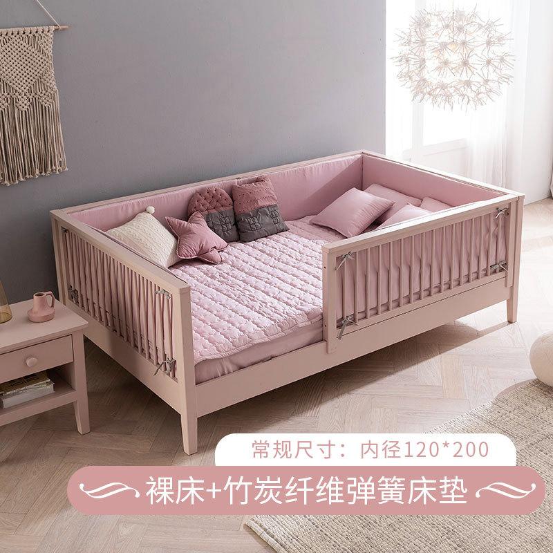 cũi gỗ sồi cao su Hàn Quốc có vườn bảo vệ cho trẻ sơ sinh.