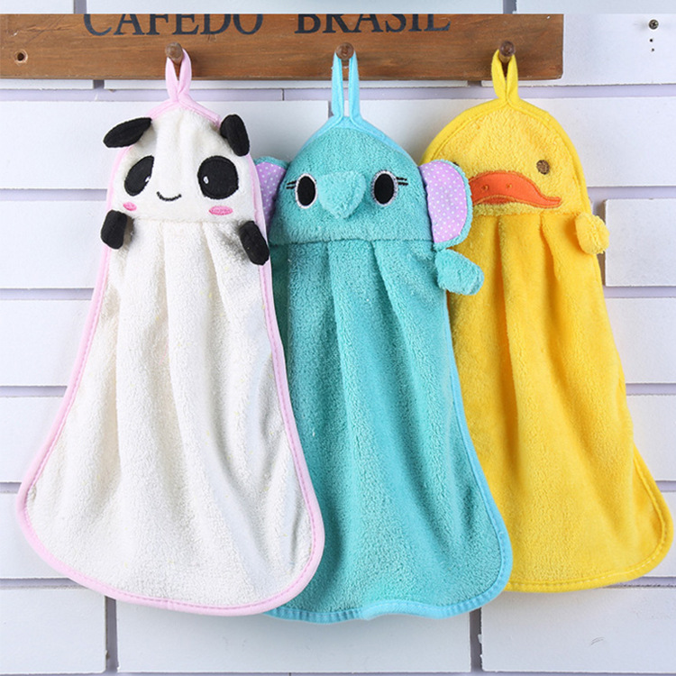 BUFAN Colorful sweet candy color super soft coral velvet cartoon towel, creative face towel to wipe