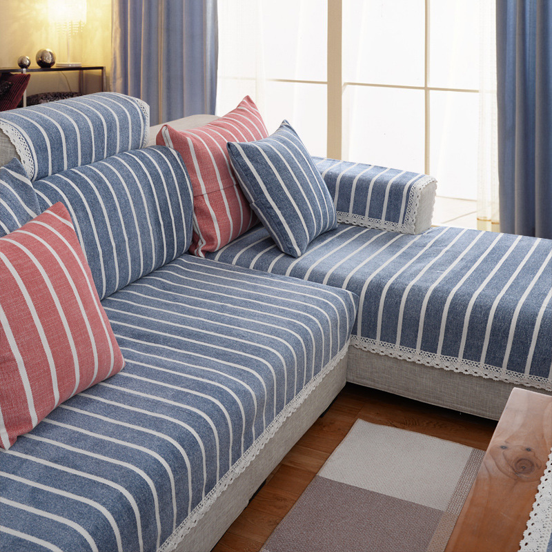 Modern minimalist sofa cushion fabric sofa towel multi-color optional non-slip cushion