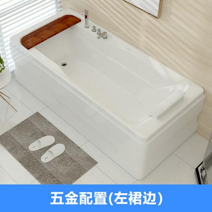 Bồn tắm acrylic kiểu dáng đơn giản cho phòng tắm .