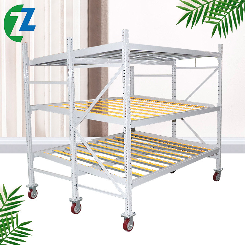 ZEZHONG Manufacturer customized storage rack pallet type fluent shelf combined type heavy fluent she