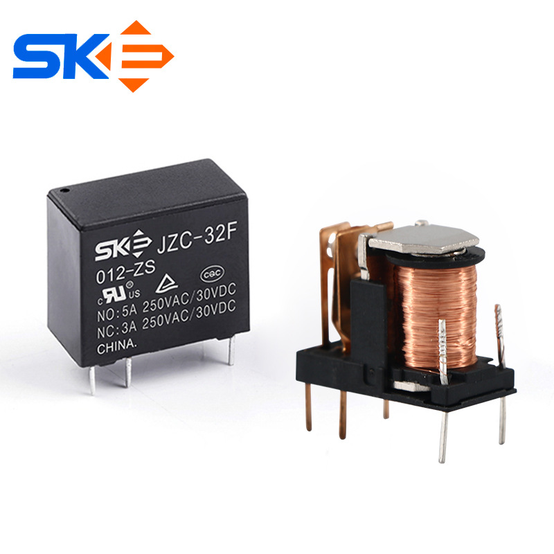 SKE Sike relay 32F conversion type 5-pin relay electronic circuit PC board 12V relay