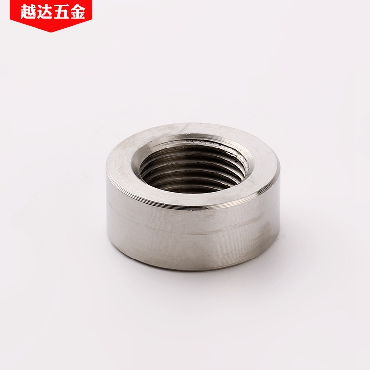 YUEDA m8-m10 non-standard nut processing custom 304 stainless steel thick round nut
