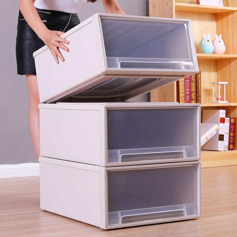 Hộp lưu trữ hộp nhựa ngăn kéo lưu trữ quần áo