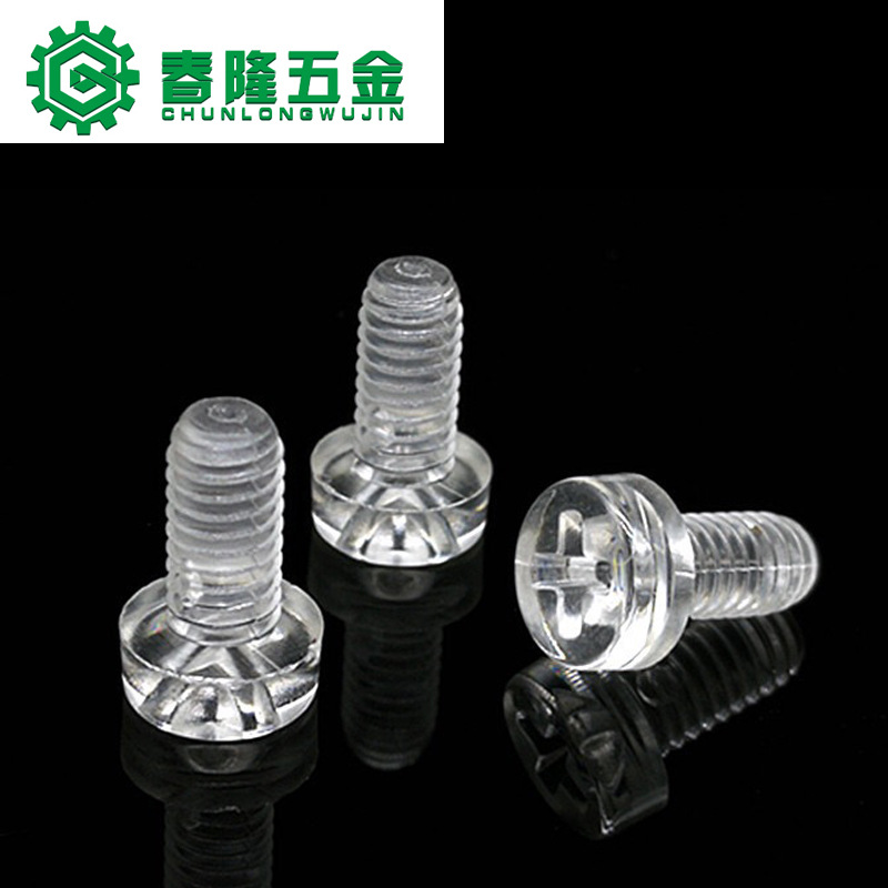 CHUNLONG Plastic screw Plastic nut Transparent acrylic Phillips PC screw Transparent nut
