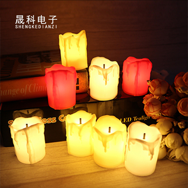Black core tears led electronic candle light creative birthday wedding Halloween party decoration we