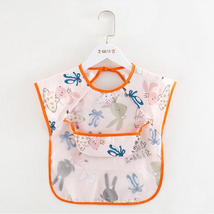 Áo khoác  Áo choàng cho bé ăn hè chống thấm tạp dề cotton mỏng không tay yếm bé ăn hè chống bẩn túi