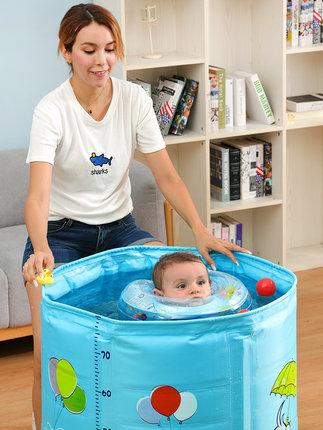 bể bơi trẻ sơ sinh  Nuo'ao em bé hồ bơi hộ gia đình sơ sinh trẻ em trẻ sơ sinh khung hợp kim lớn bé