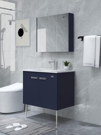 Dongpeng Tủ phòng tắm  Tủ phòng tắm Dongpeng phòng tắm hiện đại phong cách Bắc Âu phòng tắm bằng gỗ