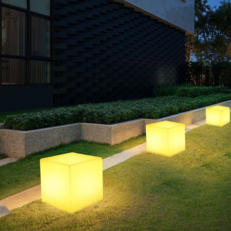 XIACHENG Solar LED luminous cube light outdoor villa garden lawn light event exhibition festival col